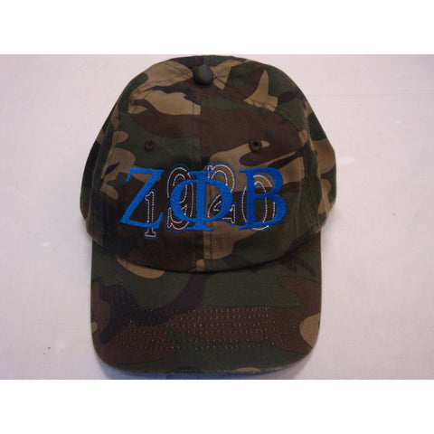 Zeta Phi Beta Camo Adjustable Hat