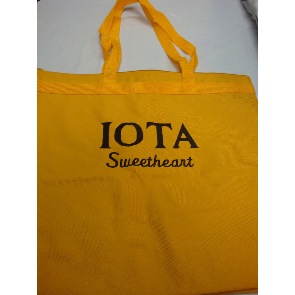 Iota Sweetheart Embroidered Gold Bag
