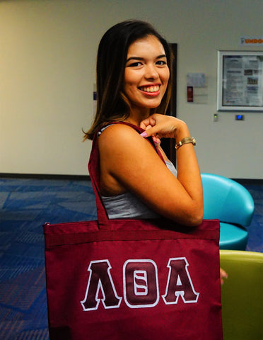Lambda Theta Alpha Large Tote Bag