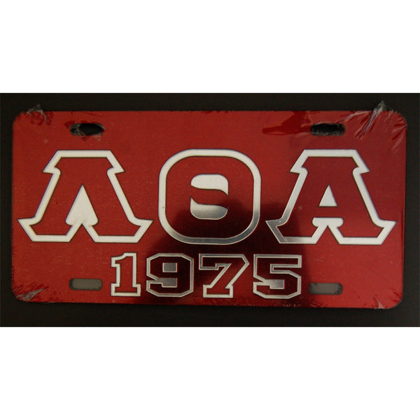 Lambda Theta Alpha License Plate