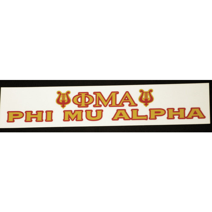 Phi Mu Alpha Bumper Sticker Decal