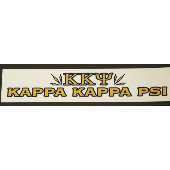 Kappa Kappa Psi Bumper Sticker Decal