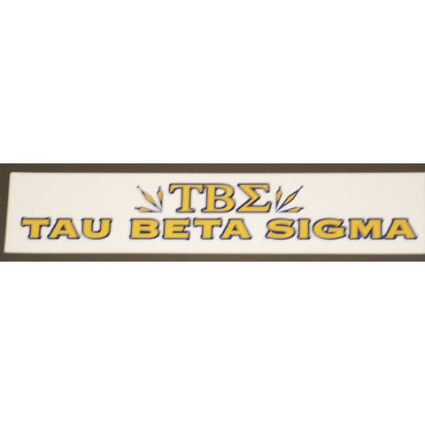 Tau Beta Sigma Bumper Sticker Decal