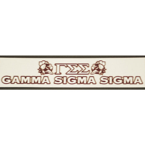 Gamma Sigma Sigma Bumper Sticker Decal
