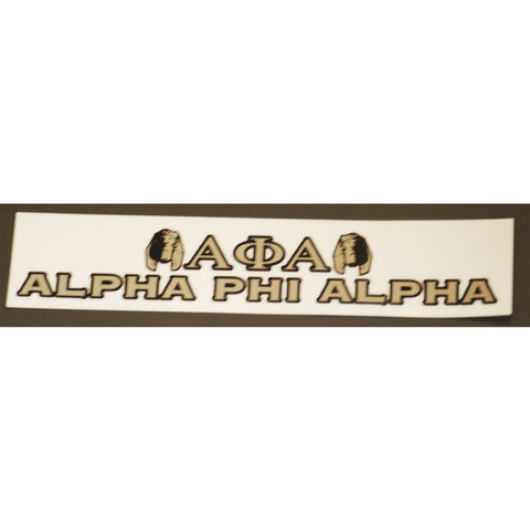 Alpha Phi Alpha Bumper Sticker Decal