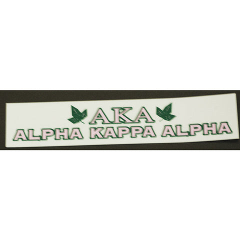 Alpha Kappa Alpha Bumper Sticker Decal