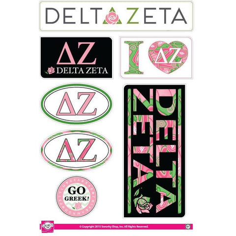 Delta Zeta Lifestyle Stickers