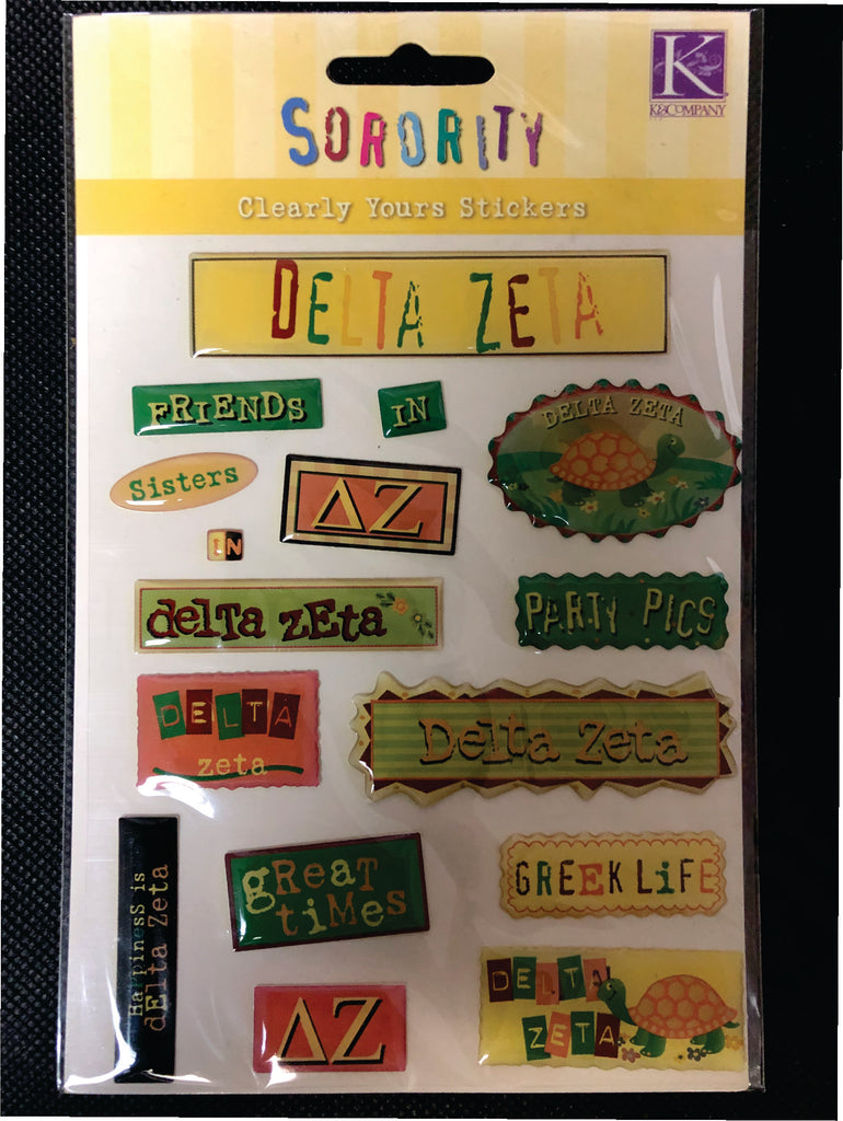 Delta Zeta Discontinued Sticker Set