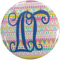 Delta Gamma Tribal Printed Button