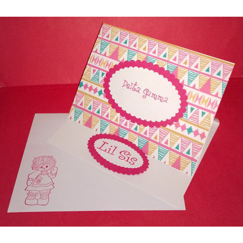 Delta Gamma Tribal Print Cards