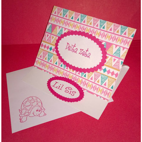 Delta Zeta Tribal Print Cards