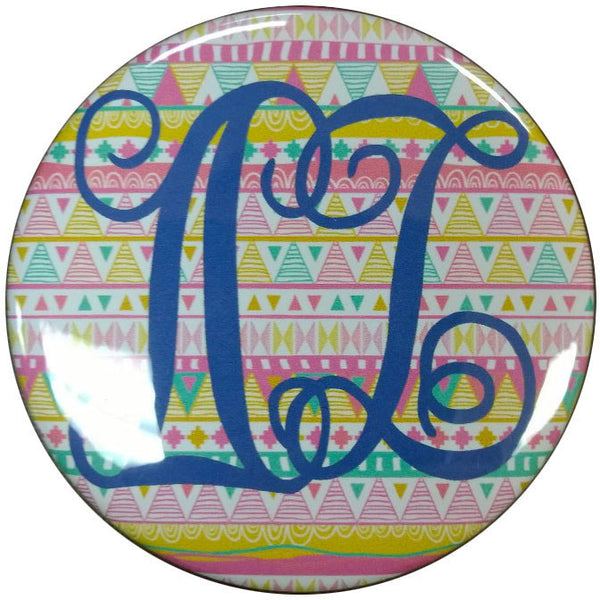 Delta Zeta Tribal Printed Button