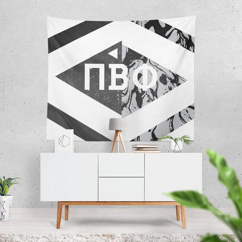 Black and White Marble Sorority Tapestry