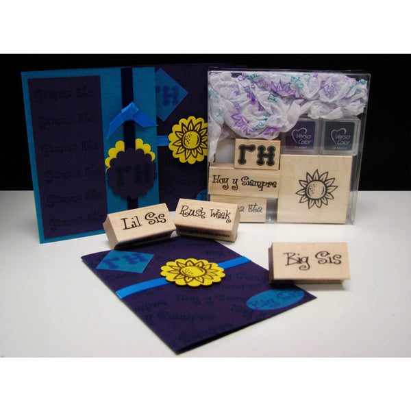 Gamma Eta Rubber Stamp Kit