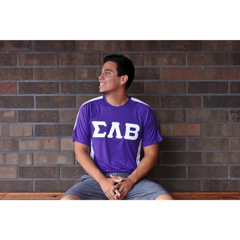 Sigma Lambda Beta White Accent Dry Fit Tee
