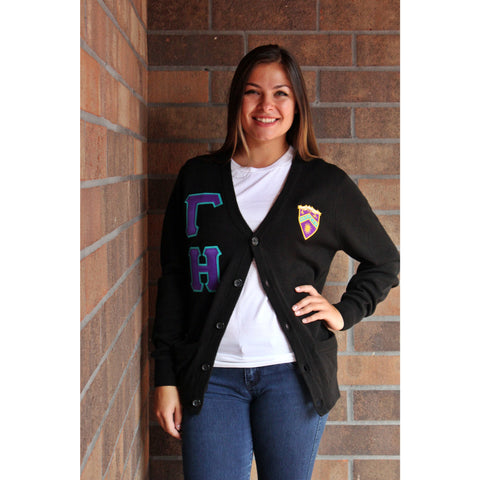 Gamma Eta Shield Cardigan