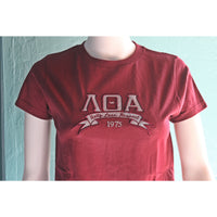 Lambda Theta Alpha Banner Ladies Fitted Tee