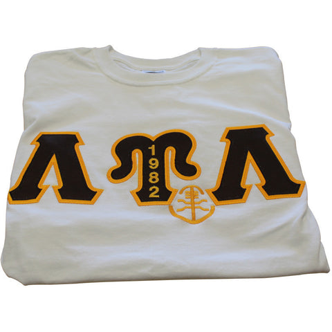 Lambda Upsilon Lambda Embroidered Mascot Year Tee