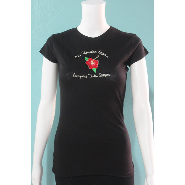 Chi Upsilon Sigma Fitted Tee
