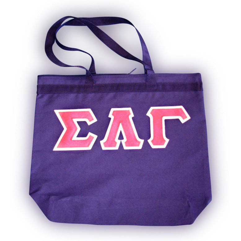 Sigma Lambda Gamma Large Tote Bag Purple