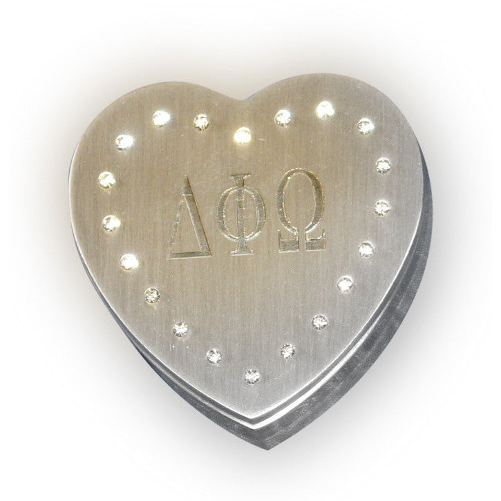 Delta Phi Omega Heart Shaped Jewelry Box