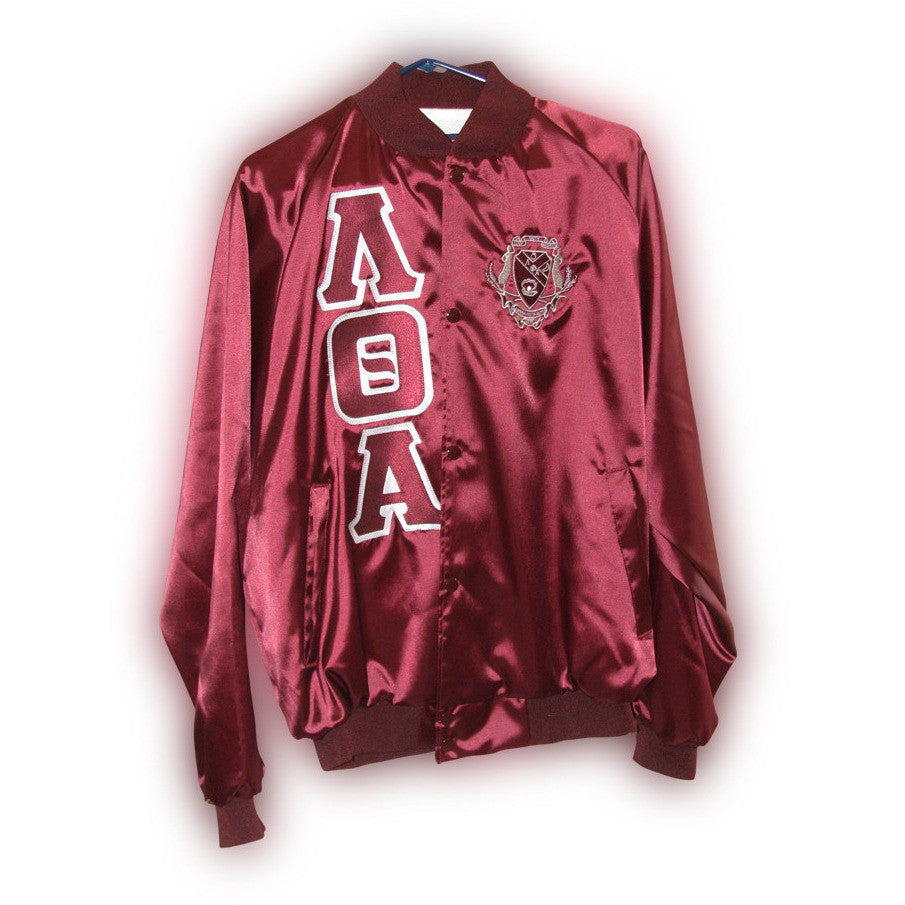 Lambda Theta Alpha Satin Jacket With Shield Greek Divine And More