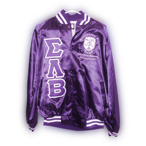 Sigma Lambda Beta Satin Jacket with Shield