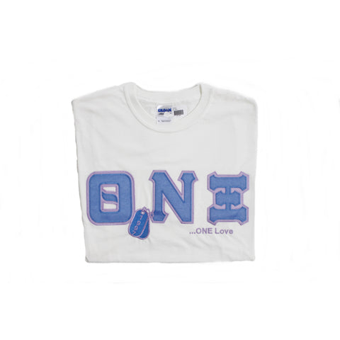 Theta Nu Xi Embroidered DT Tee