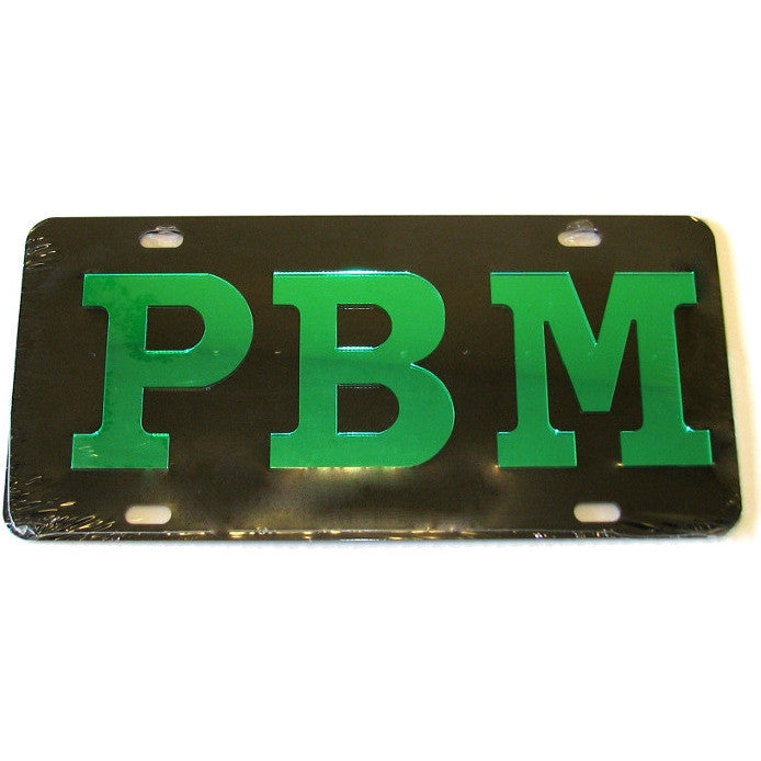 Progressive Black Men Car License Tag