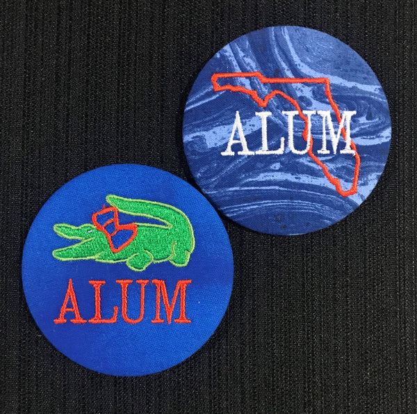 Alum Gameday Embroidered Button