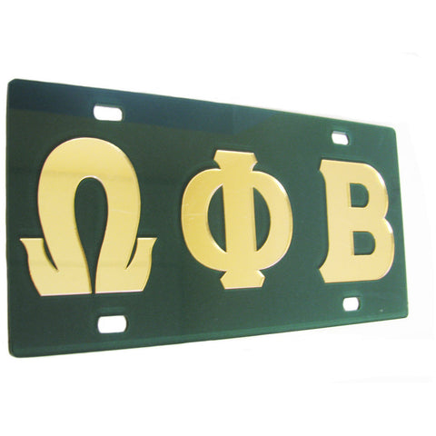Omega Phi Beta License Tag
