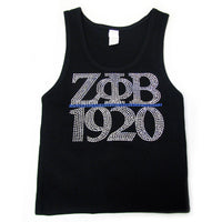 Zeta Phi Beta Jeweled Tank