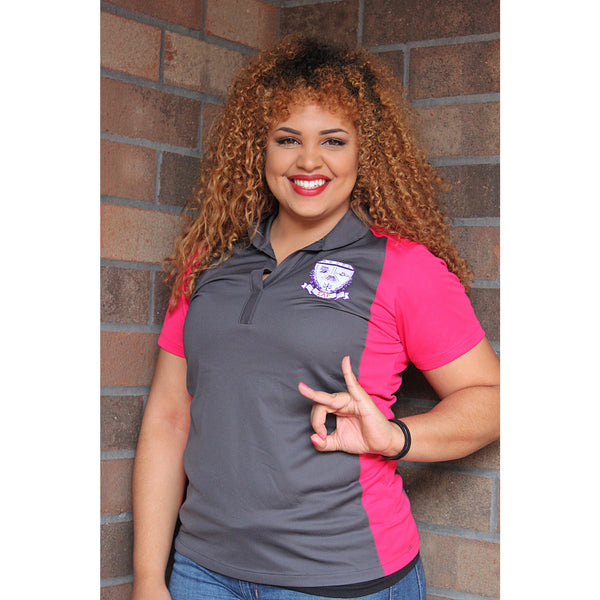 Sigma Lambda Gamma Polo with Shield