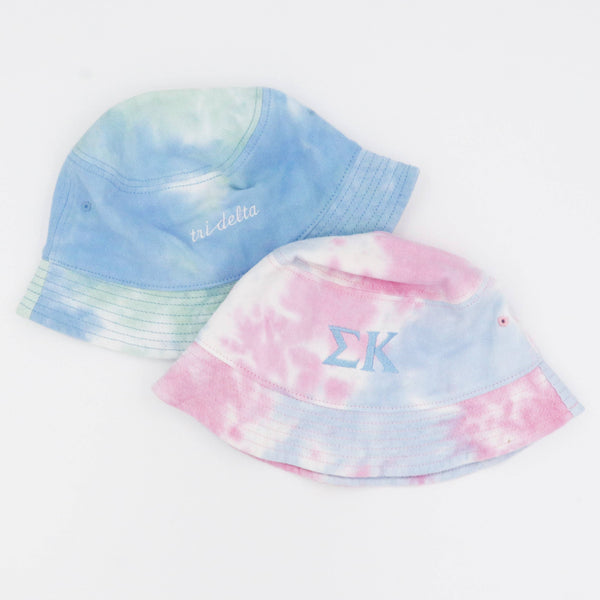 Alpha Omicron Pi Tie-Dyed Bucket Hat