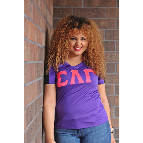 Sigma Lambda Gamma Dry Fit Color Block V-Neck