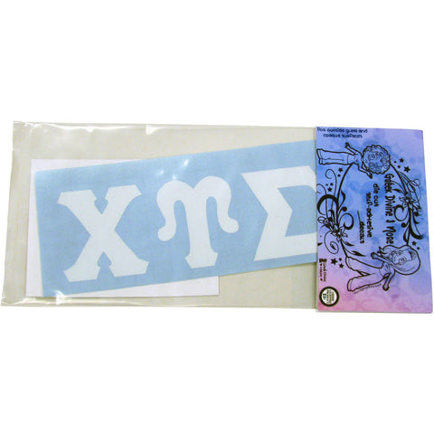 Chi Upsilon Sigma Greek Letter Vinyl Decal