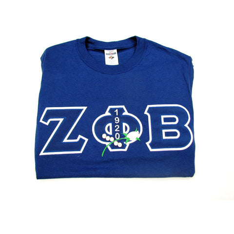 Zeta Phi Beta Embroidered Tee Blue 2