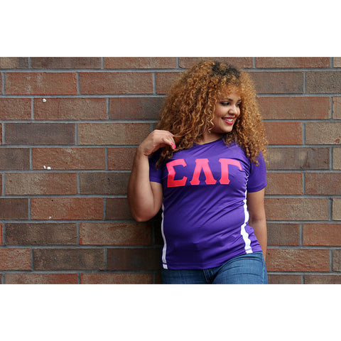 Sigma Lambda Gamma Color Block Dry-Fit Tee