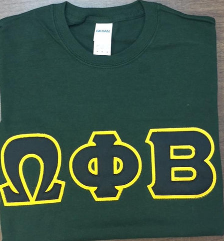 Omega Phi Beta Greek Letter Tee