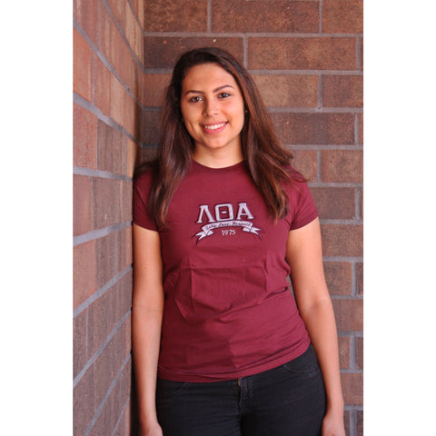 Lambda Theta Alpha Banner Fitted Tee