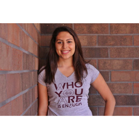 "Lambda Theta Alpha ""Who you are"" V-neck"