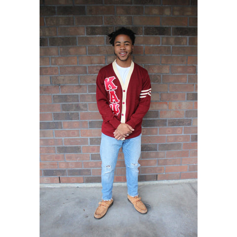 Kappa Alpha Psi heavy knit cardigan