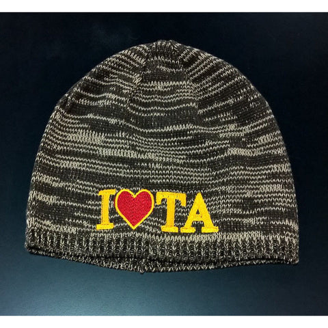 Iota Sweetheart Brown/White Marble Beanie Cap