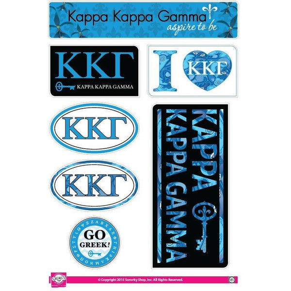 Kappa Kappa Gamma Lifestyle Sticker Sheet