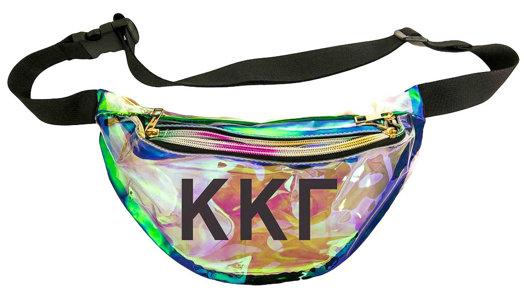 c2c24ffe Kappa Kappa Gamma Holographic Fanny Pack – Greek Divine and More