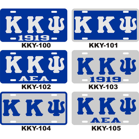 Kappa Kappa Psi License Tag