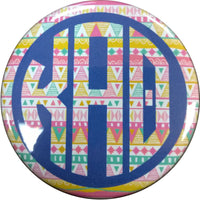 Kappa Alpha Theta Tribal Printed Button