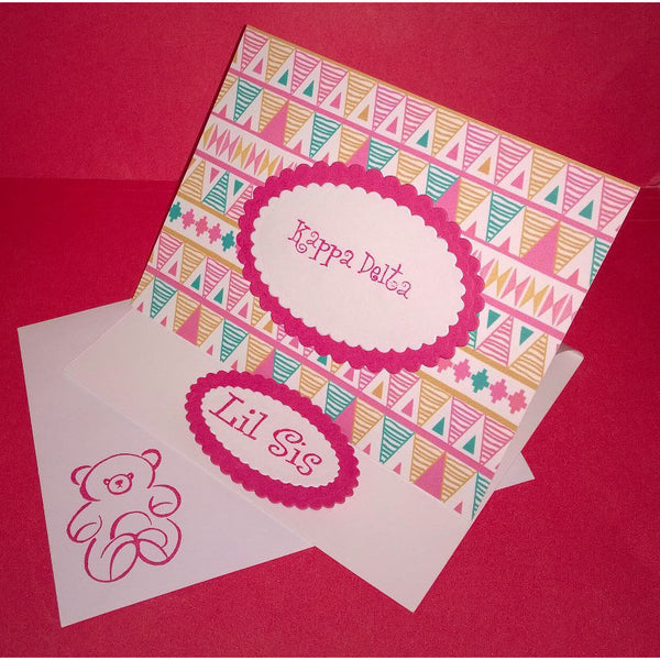 Kappa Delta Tribal Print Card