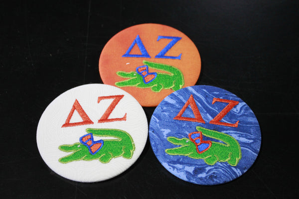 Delta Zeta Gator Game Day Embroidered Button