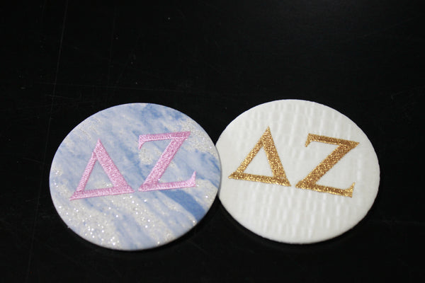 Delta Zeta Game Day Embroidered Button